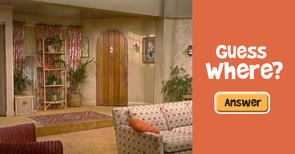 Guess What Famous Sitcom Featured This Living Room Do