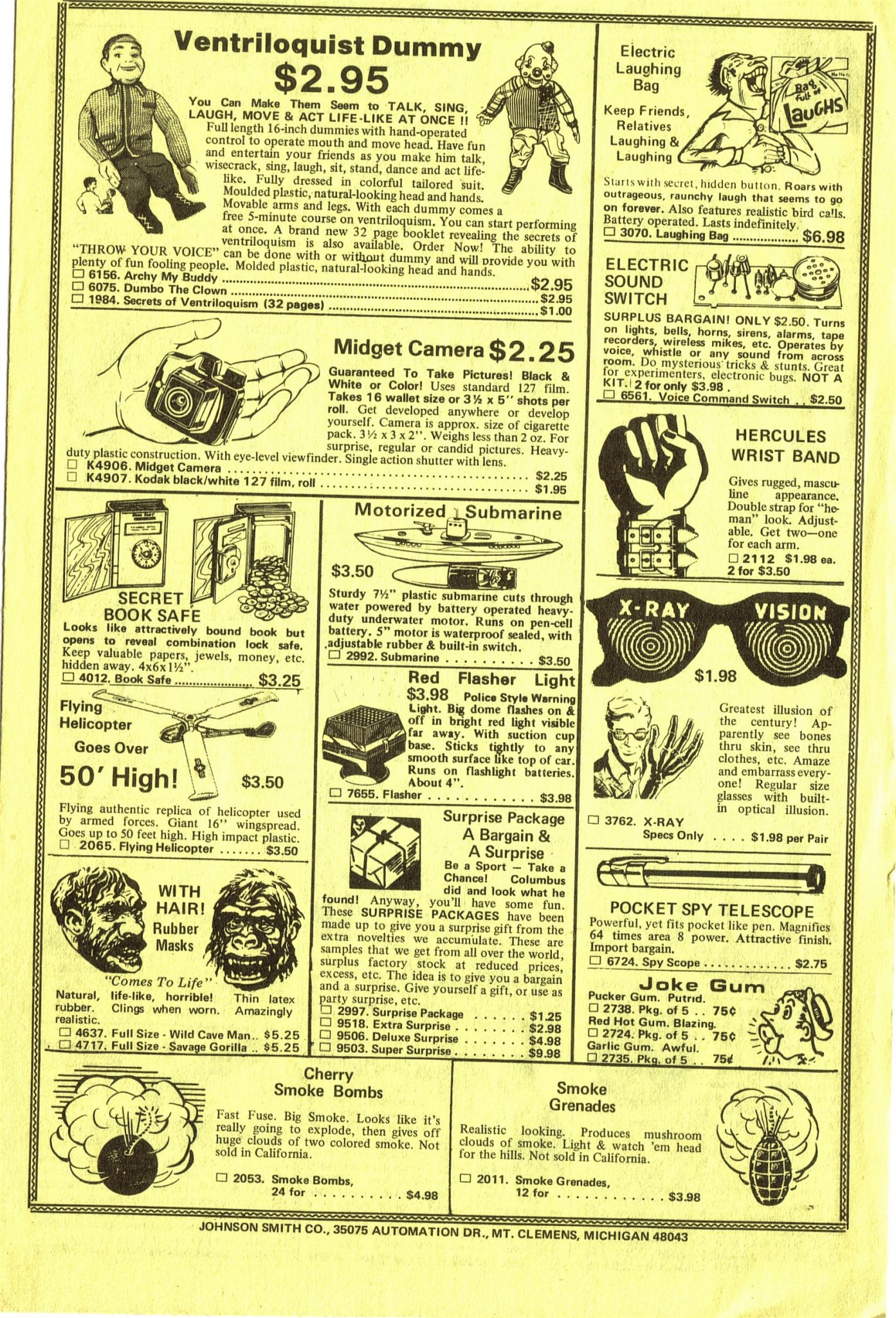 Remember Johnson Smith Catalog? Did You Read The Johnson-Smith ...